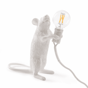 Mouse Lamp White Standing