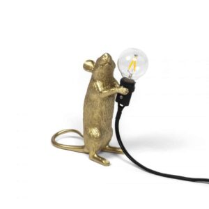 Mouse Lamp Gold Standing