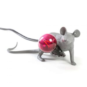 Mouse Lamp Grey Lyie Down