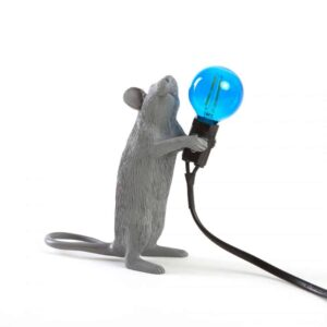 Mouse Lamp Grey Standing