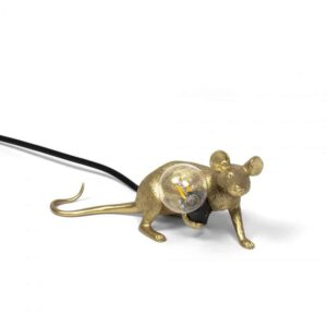 Mouse Lamp Gold Lyie Down